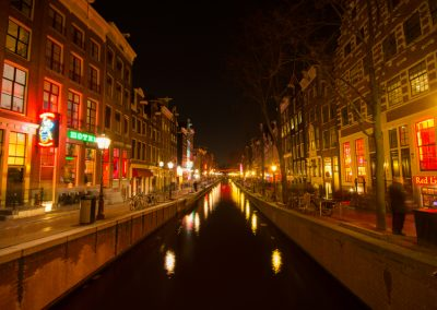 Amsterdam at night Netherlands